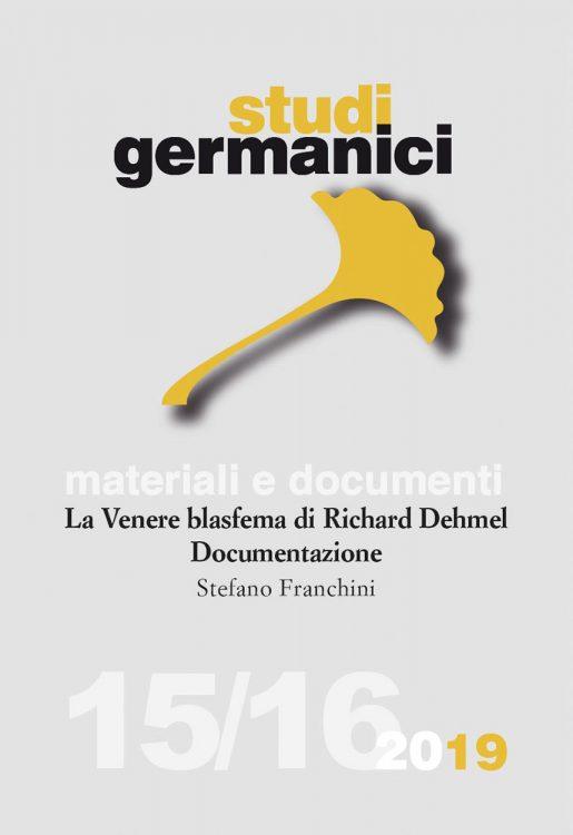 N° 15-16 (2019) Materiali e documenti