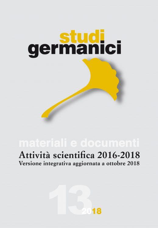 N° 13 (2018) Materiali e documenti