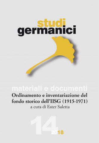 N° 14 (2018) Materiali e documenti