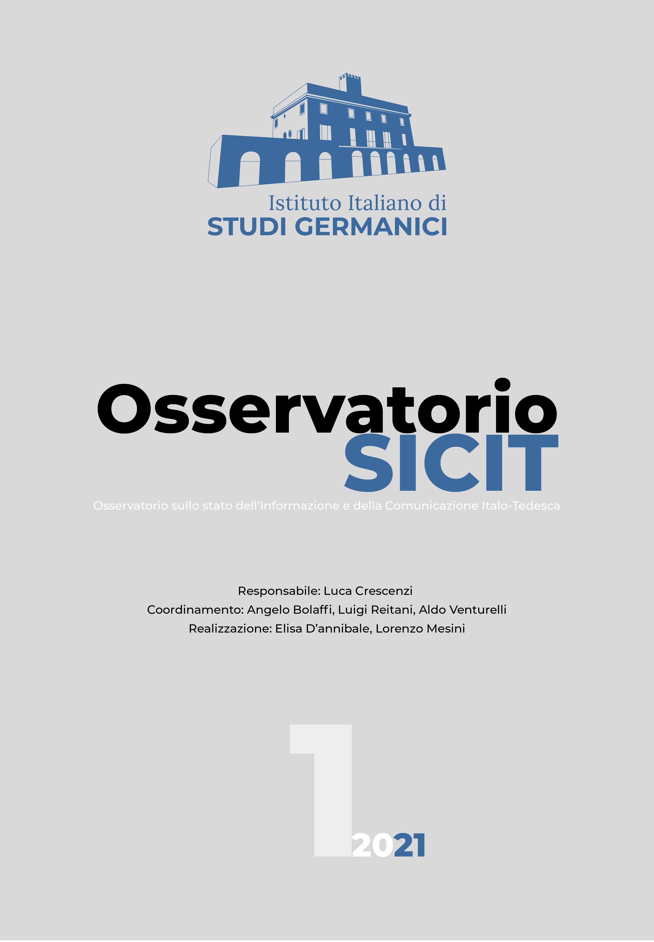 OSSERVATORIO SULLO STATO DELL'INFORMAZIONE E DELLA COMUNICAZIONE ITALO-TEDESCA
