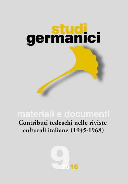 N° 9 (2016) Materiali e Documenti