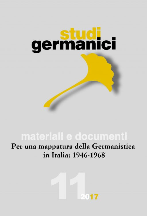 N° 11 (2017) Materiali e documenti