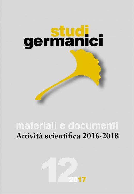 N° 12 (2017) Materiali e documenti